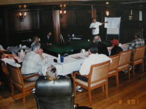 Teaching a morning seminar at Pool School in Paradise at the Granville Island Hotel in Vancouver