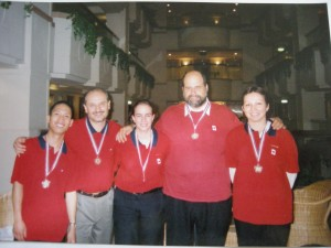 We won the Silver Medal at the 2001 World Team Championships in Taichun, Taiwan